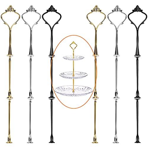 Dilightnews 6 Set Etageren Stangen Set, Etageren Stangen, Metallstangen Mittellochausstech, 2 bis 3 Etage für Hochzeitstorte Etagere Tortenständer Tortenhalter Torten