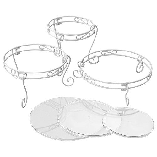 Wilton Weißes Verschnörkeltes Torten- und Dessert-Ständer-Set